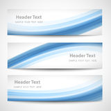 Abstract header blue wave white vector design Stock Image