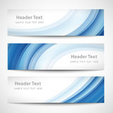 Abstract header blue wave white vector design Stock Photo