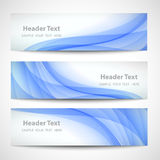 Abstract header blue wave white vector design.  vector illustration