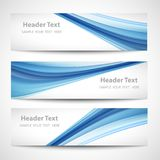 Abstract header blue wave white vector design stock illustration