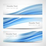 Abstract header blue wave white vector design royalty free illustration