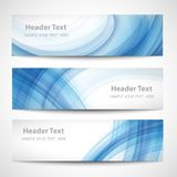 Abstract header blue wave white vector design vector illustration