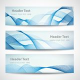 Abstract header blue wave white vector design Royalty Free Stock Photography