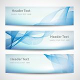 Abstract header blue wave white vector design Royalty Free Stock Photo