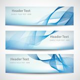 Abstract header blue wave white vector design Stock Photography