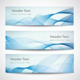 Abstract header blue wave white vector design Royalty Free Stock Images