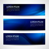 Abstract header dark blue wave black background vector design Royalty Free Stock Images