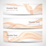 Abstract header orange wave white vector design.  Stock Photography