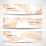 Abstract header orange wave white vector design.  Royalty Free Stock Photos