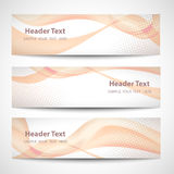 Abstract header orange wave white vector design.  Royalty Free Stock Image