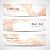 Abstract header orange wave white vector design.  Royalty Free Stock Photo