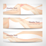 Abstract header orange wave white vector design.  Royalty Free Stock Photography