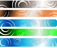 Set of colorful Abstract header isolated Royalty Free Stock Image