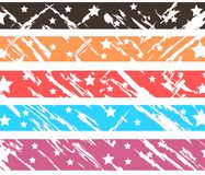 Set of colorful Abstract header with stars isolated Royalty Free Stock Images