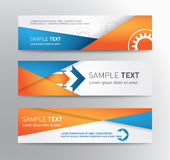 Abstract header vector set with gear Royalty Free Stock Photography