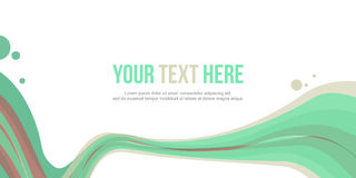 Abstract header wave design style collection. Vector illustration Royalty Free Stock Photography