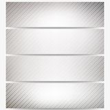 Abstract headers set, diagonal repeat straight Royalty Free Stock Photos