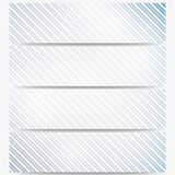 Abstract headers set, diagonal repeat straight Stock Photos