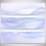 Abstract headers set, wave vector design. Abstract headers set, blue wave vector design Vector Illustration