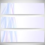 Abstract headers set, wave vector design. Abstract headers set, blue wave vector design Royalty Free Illustration