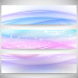 Abstract headers set, wave vector design Stock Images