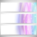 Abstract headers set, wave vector design Royalty Free Stock Images