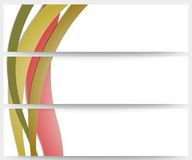 Abstract headers set, wave vector design. Abstract headers set, colored wave vector design Stock Images