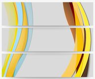 Abstract headers set, wave vector design. Abstract headers set, colored wave vector design Royalty Free Stock Photography