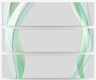 Abstract headers set, wave vector design. Abstract headers set, colored wave vector design Royalty Free Stock Photos