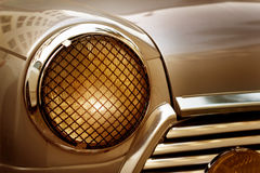 Abstract headlight color classic vintage car, soft and blur concept Stock Images