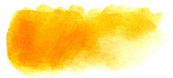 Abstract headline background. A shapeless oblong spot of golden orange yellow color. Gradient from dark to light. royalty free stock images