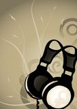 Abstract headphones background Stock Image