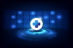 Abstract health care concept tech futuristic design background royalty free illustration