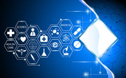 Abstract health care and science concept background Stock Photo