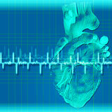 Abstract health and medical backgrounds. With human heart Royalty Free Illustration