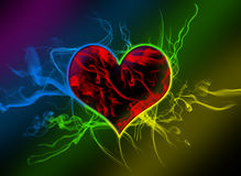 Abstract heart. Photoshop creation of an heart Royalty Free Stock Photography