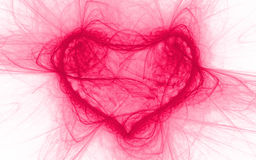 Abstract heart. Colorful heart made of lines Royalty Free Stock Image
