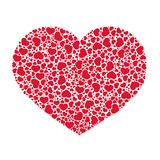 Abstract heart. Abstract red heart from small hearts Royalty Free Stock Photo