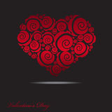 Abstract heart. Abstract vector illustration of heart on black background royalty free illustration