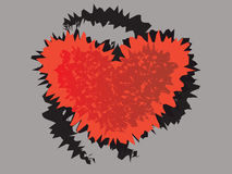 Abstract heart. On gray background Royalty Free Stock Photography