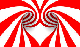 Abstract Heart. In red lines vector illustration