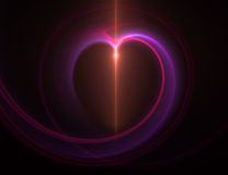 Abstract heart. Computer generated abstract red heart Royalty Free Stock Photography