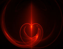 Abstract heart. Computer generated abstract red heart Stock Images