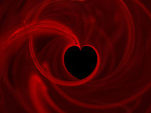 Abstract heart. Heart symbol in a cloud of cmoke Vector Illustration