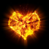 Abstract heart. On black background Royalty Free Stock Photography