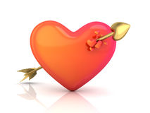 Abstract heart and arrow. (done in 3d Stock Photography