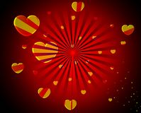 Abstract Heart Background Royalty Free Stock Photography