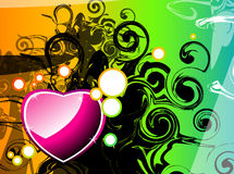 Abstract heart background. Abstrac design work using different colours Royalty Free Stock Image