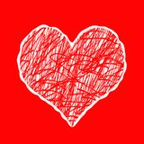Abstract heart background stock illustration
