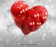 Abstract heart with balloons Stock Image